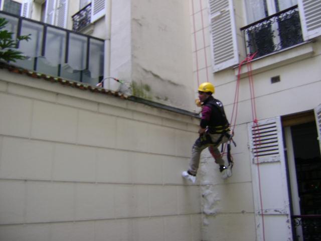 Mise en haut sur une facade
